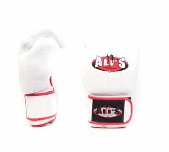 Ali's fightgear bokshandschoenen bg tr witte echt leren - 16 oz - L