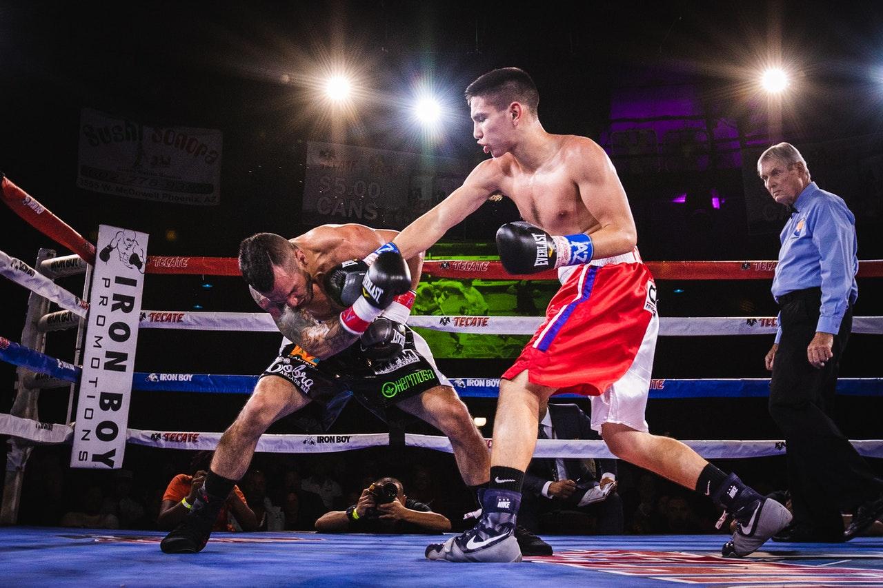 Een bokswedstrijd